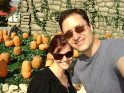 Us by the pumpkin patch