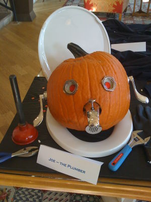 Joe the plumber pumpkin